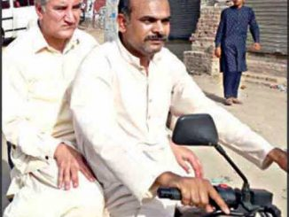 shah mehmood on motor cycle at girdopesh.com