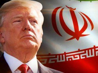 Trump and Iran Flag