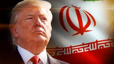 Trump and Iran Flag