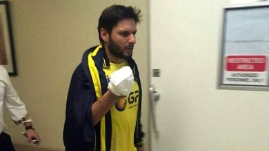shahid aafridi injured . news at girdopesh.com