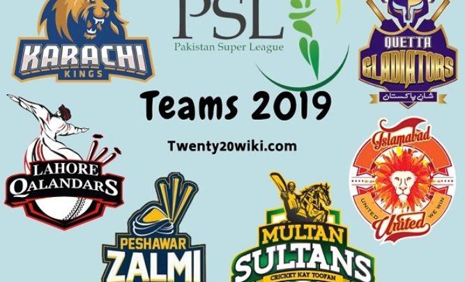 PSL-2019-Teams
