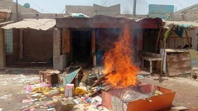 sindh hindu shops burning