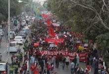 students march