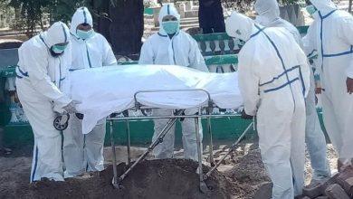 corona burial