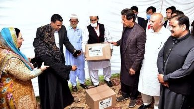 imran khan distributing