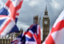 british flag and london clock