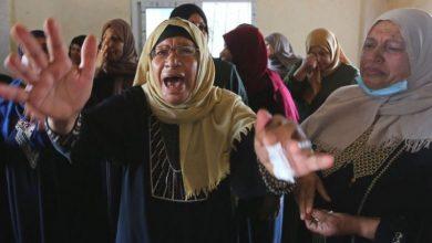 palestine woman crying