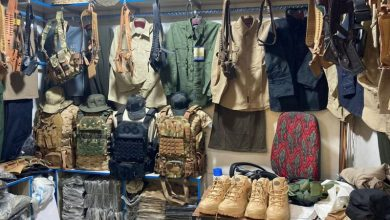 army boot and jackets